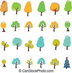 bäume, zeichen & schilder