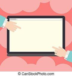 båda, grafisk, layout, affär, pekande, minimalist, färg, avskärma, räcker, isolerat, analys, hu, design, kompress, mall, tom, sidor, tom, annonsering