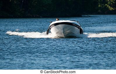 båt, fortkörning
