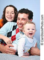 bébé, 3, famille