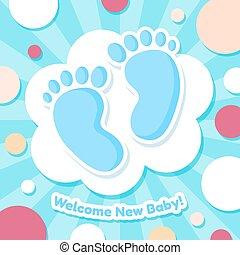 bébé, accueil, carte