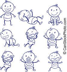bébé, actions