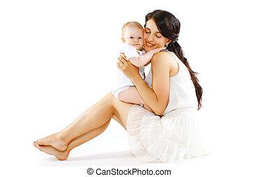 bébé, agréable, maman, heureux