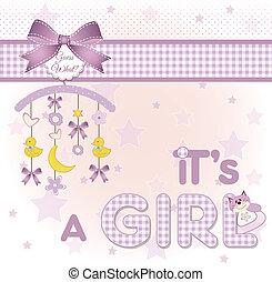 bébé, annonce, accueil, carte