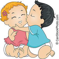 bébé, baiser