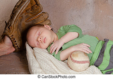 bébé, base-ball