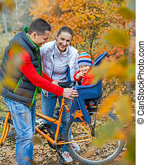 bébé, bikes., famille