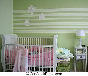 bébé, chambre à coucher