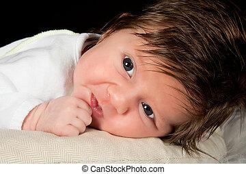 bébé, closeup