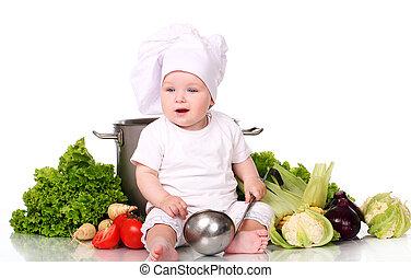 S ance sain int rieur cuisinier nourriture b b moule for Cuisinier 3 etoiles legumes