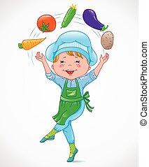 Compagnie l gumes dessin anim 10 vegetables for Cuisinier 3 etoiles legumes