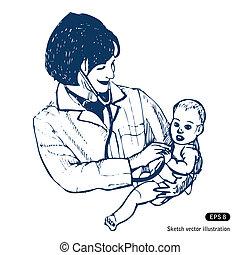 bébé, docteur