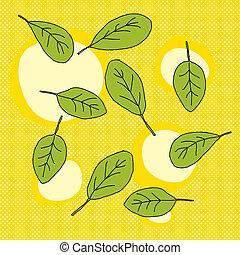 bébé, feuilles, épinards