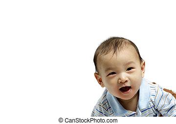 bébé, heureux