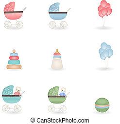 bébé, icônes
