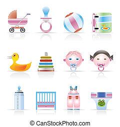 bébé, magasin, enfant, ligne