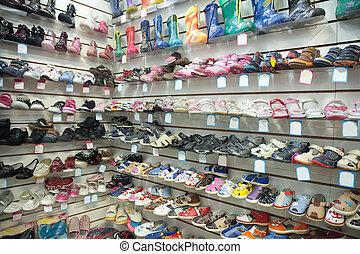 bébé, magasin, mode, chaussures