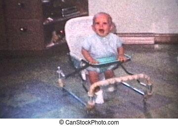 bébé, marcheur, courant, (1963)