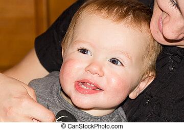 bébé, mignon, 1, année