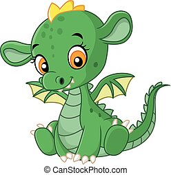 bébé, mignon, dragon