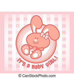 bébé, mignon, -, femme, lapin, version., orgirl