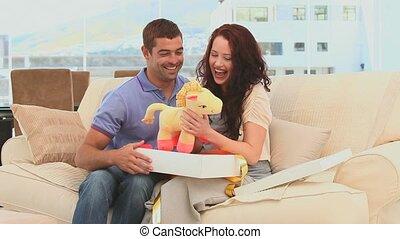 bébé, mignon, gam, avenir, parents