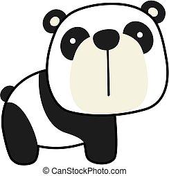 bébé, mignon, panda