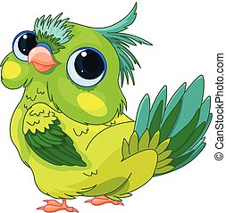 bébé, mignon, perroquet