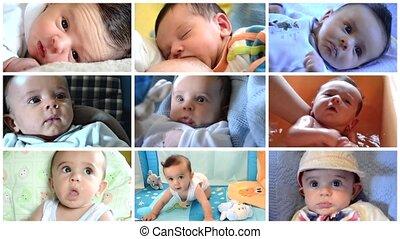 bébé, mignon, peu, collage, garçon