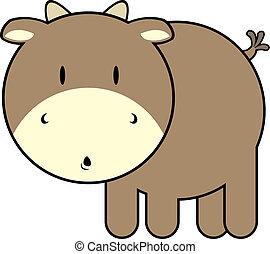 bébé, mignon, taureau
