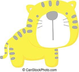 bébé, mignon, tigre