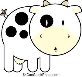 bébé, mignon, vache