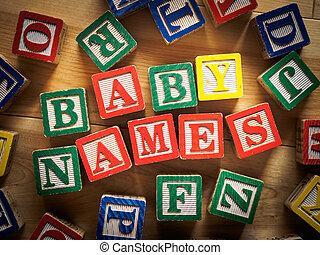bébé, noms