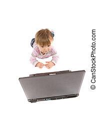 bébé, ordinateur portable