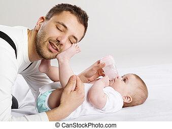 bébé, père