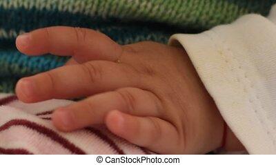 bébé, petite main