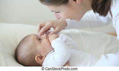 bébé, peu, amour, mother%u2019s