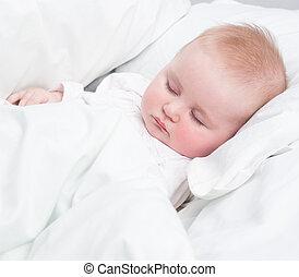 bébé, peu, sommeil