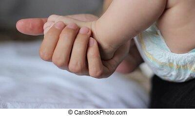 bébé, pied, minuscule