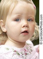 bébé, portrait, girl