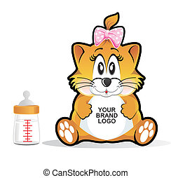 Vecteurs de b b chat dessin anim illustration chaton - Manga femme chat ...