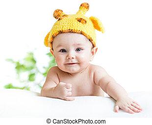 bébé, rigolote, nourrisson, garçon