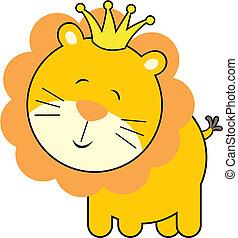bébé, roi, lion