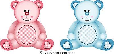bébé, rose, bleu