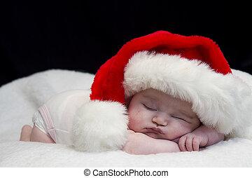 bébé, santa, dormir