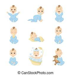 bébé, set., emoji