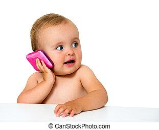 bébé, téléphone