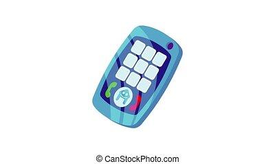 bébé, téléphonez icône, animation