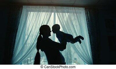 bébé, tenue, mère