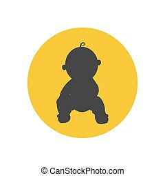 bébé, vecteur, silhouette